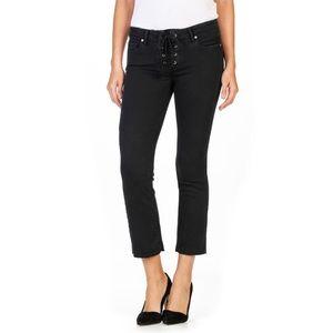 Paige Colette Lace-Up Crop Flare Jeans